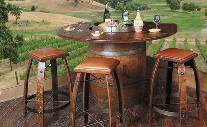 s recycled and repurposed recycled wine barrels