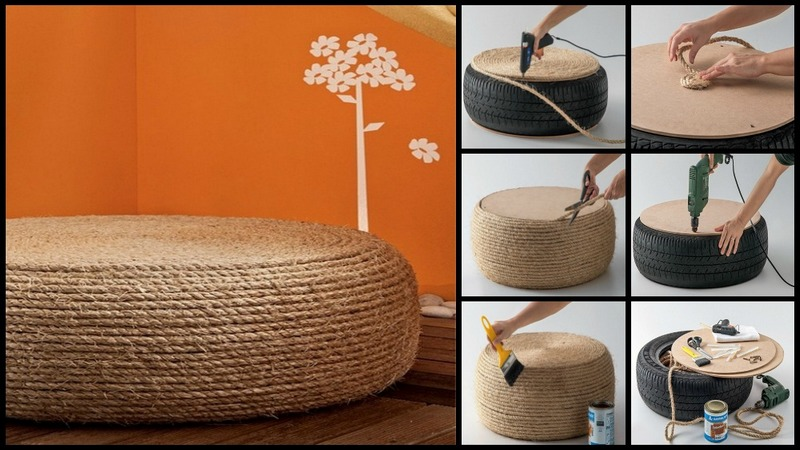 DIY Tire Ottoman  The OwnerBuilder Network