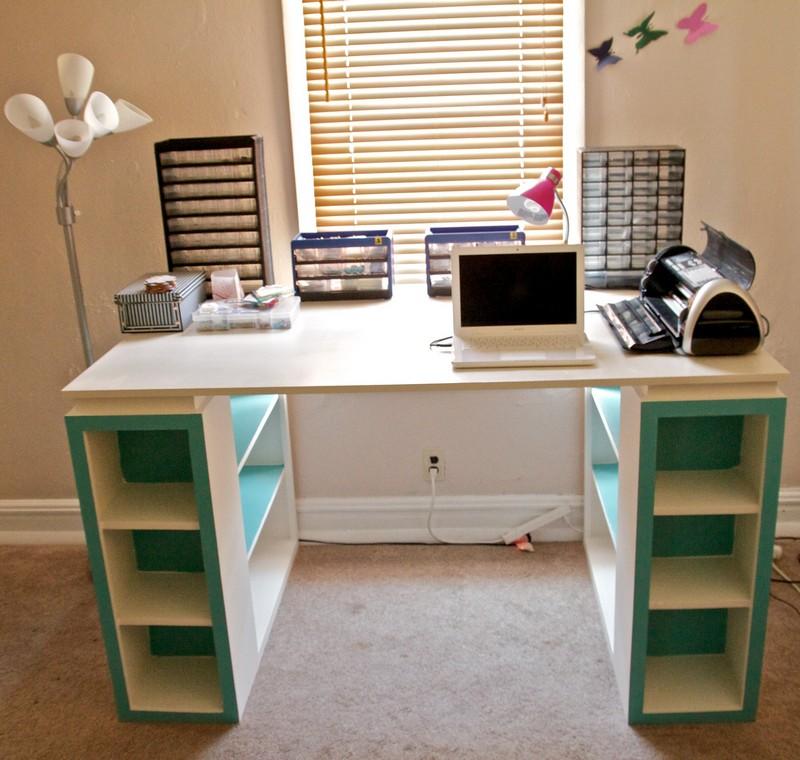 DIY Bookshelf Craft Table  The OwnerBuilder Network