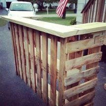 Diy Pallet Outdoor Bar And Stools Owner-builder Network