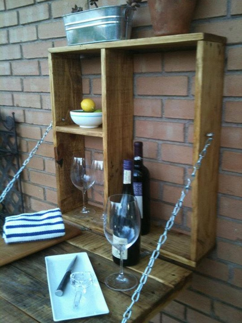 Pallet Fold Down Outdoor Bar  The OwnerBuilder Network