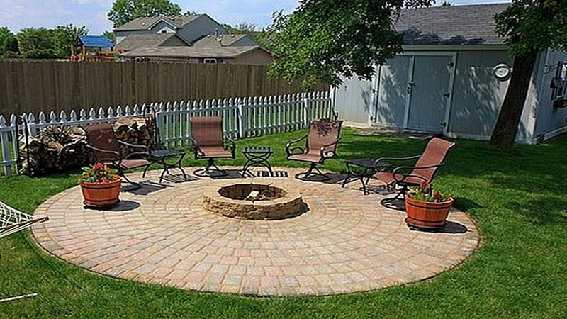 diy patio with fire pit the owner