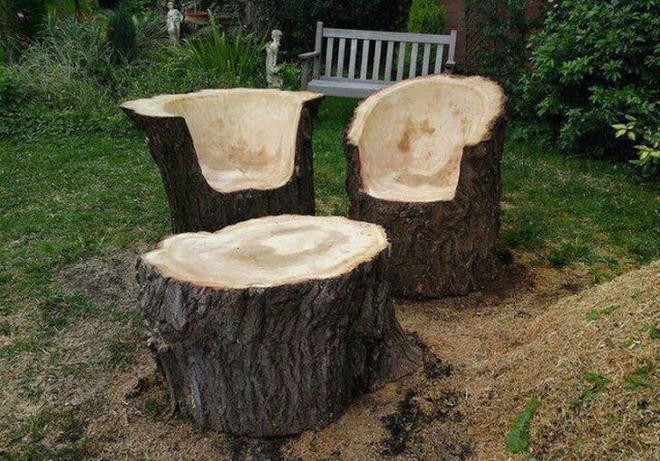 Outdoor Tree Stump Ideas