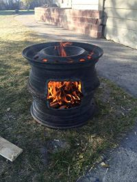 Recycled Rim BBQ Fire Pit | The Owner-Builder Network