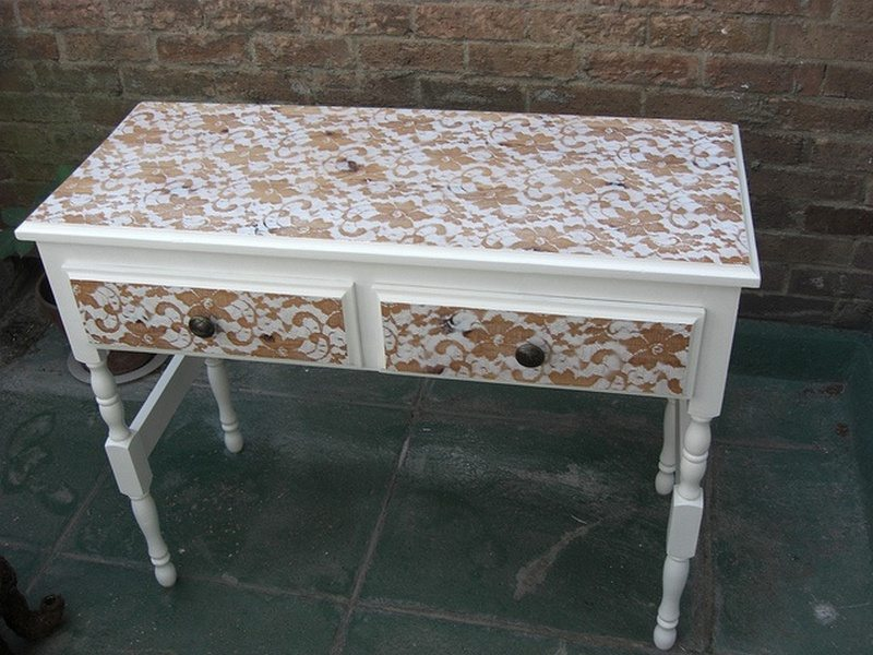 How To Paint A Lace Effect On A Dresser  The Owner