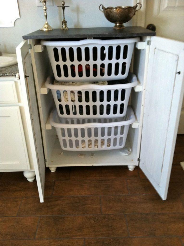Laundry Sorter Cabinet