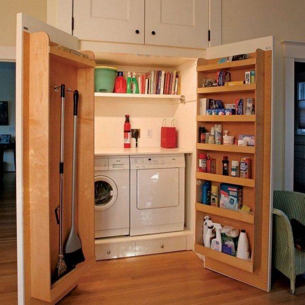 Small Laundry Closet Door Ideas