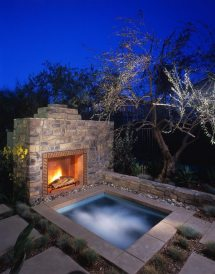 Hot Tub and Fireplace Designs