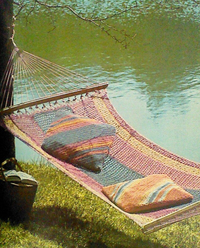 How to Make a Crocheted Hammock  The OwnerBuilder Network