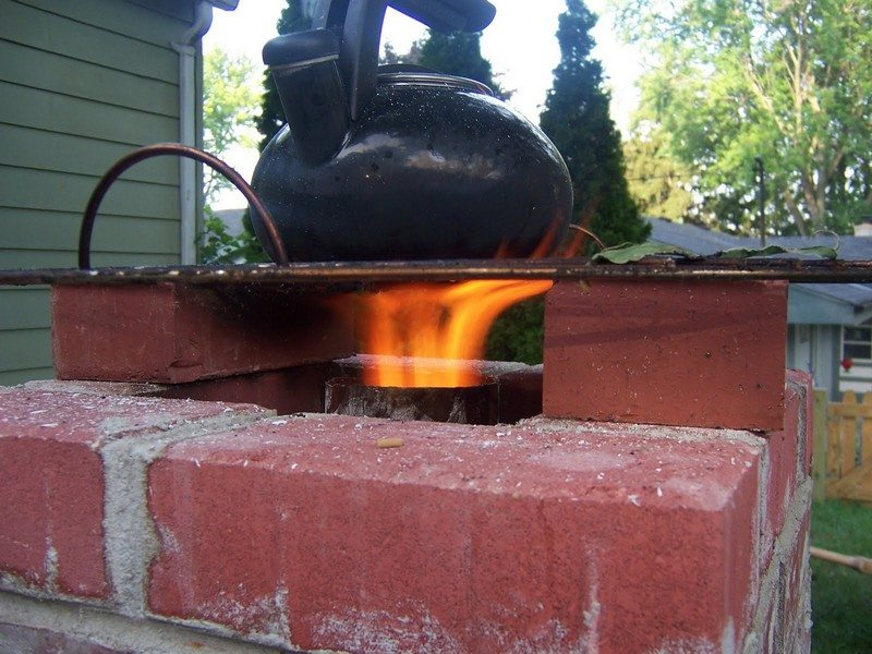 How to make a 6 brick rocket stove  The OwnerBuilder Network