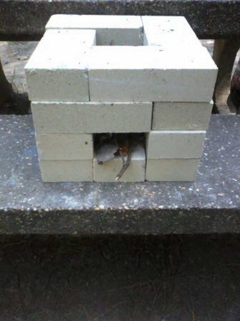 How to make a 6 brick rocket stove  The OwnerBuilder