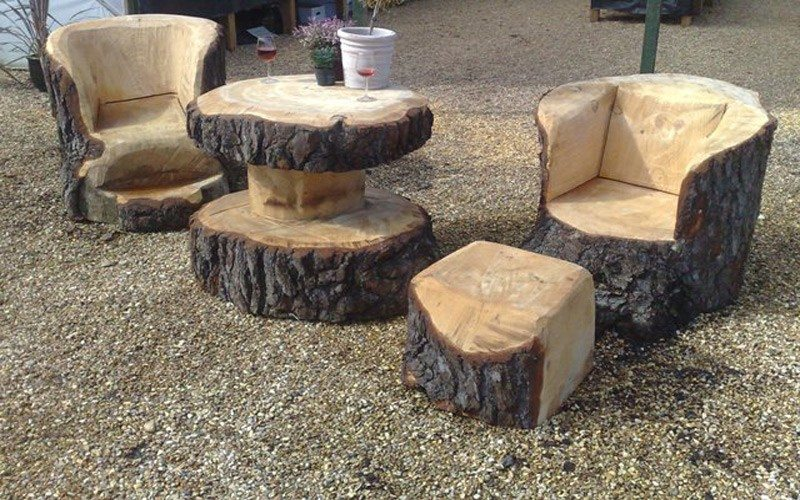 tree stump chairs monte rocking chair canada unique furniture made from stumps and logs the owner builder