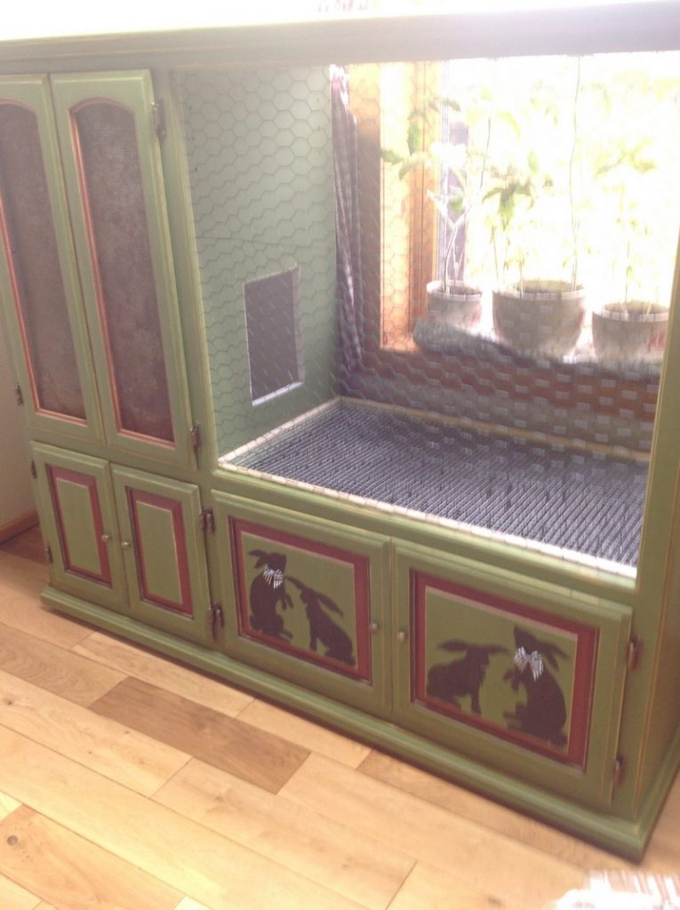 Rabbit hutch ideas made from repurposed furniture  The