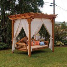 Outdoor Cedar Swing Bed & Pergola Owner-builder Network