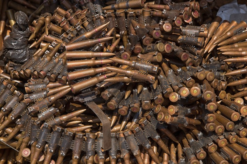 Seized ammunition in Bria, CAR.