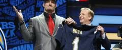 Joey Bosa and NFL Commissioner Roger Goodel via the Orlando Sun Sentinel.