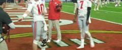 Joe Burrow and Dwayne Haskins