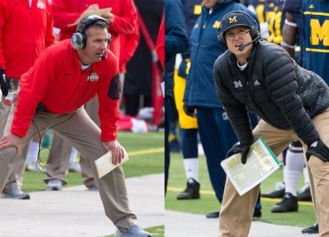 Urban Meyer and Jim Harbaugh Ohio State Michigan