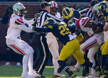 Ohio State and Michigan Tussle