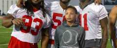 Ohio State Buckeyes Jalyn Holmes, Tracy Sprinkle, Tyquan Lewis