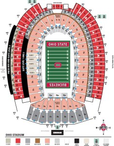 Ohio stadium seating section locations also chart and layout gate rh theozone