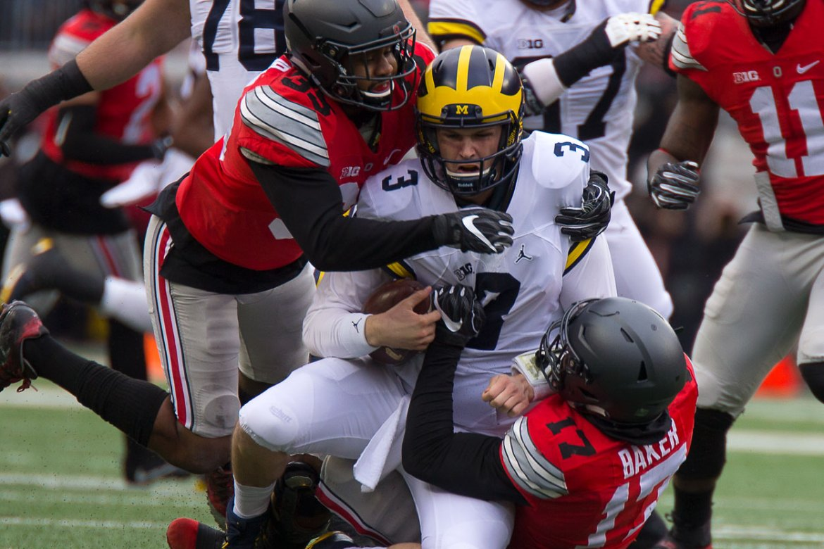 Ohio State Football Michigan Football Wilton Speight Jerome Baker Chris Worley Ohio State Buckeyes