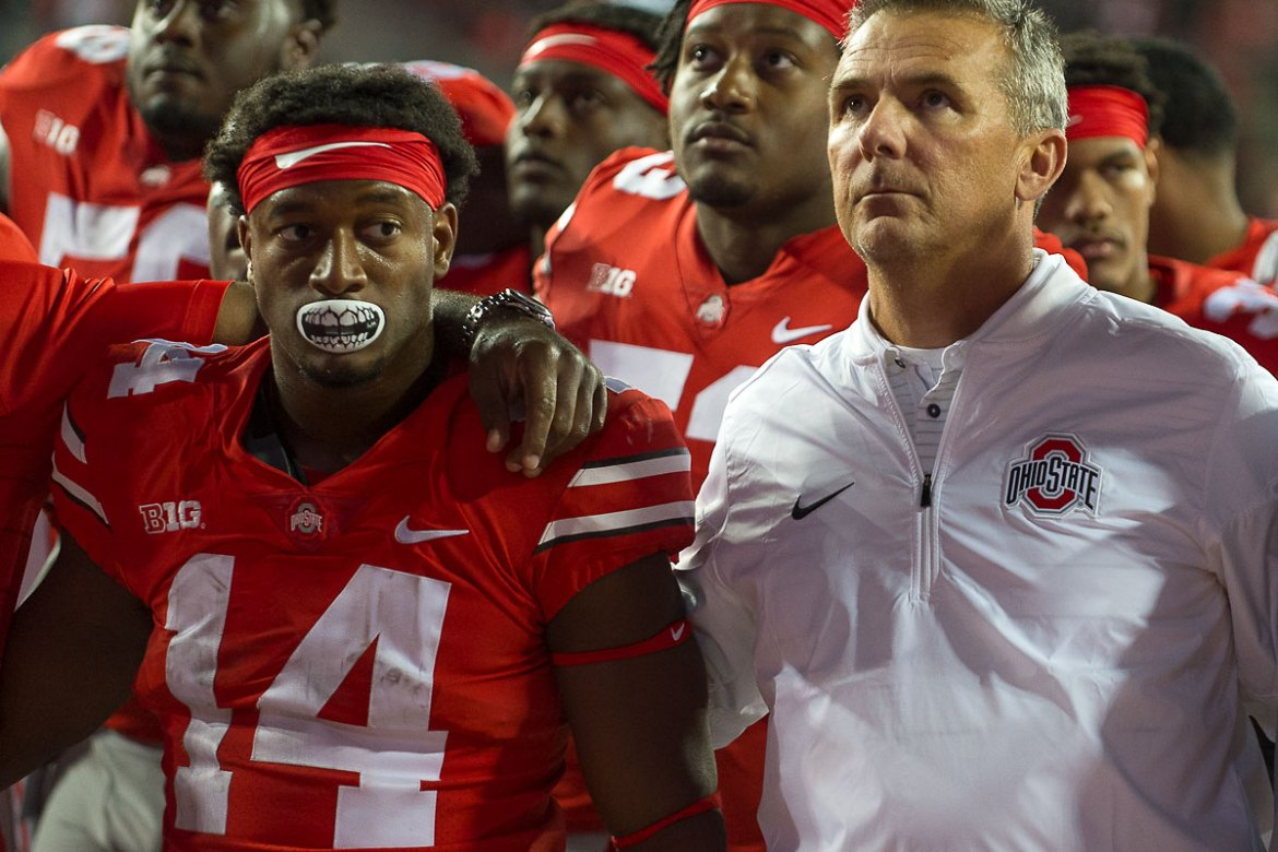 Urban Meyer K.J. Hill Carmen Ohio Oklahoma