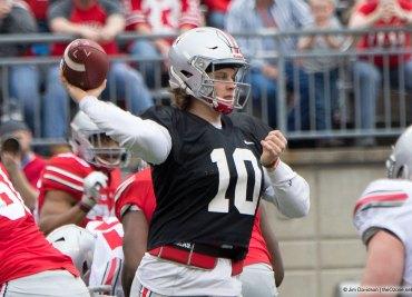 Joe Burrow 2018 Spring Game Ohio State Football Buckeyes