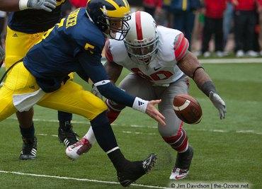 Thaddeus Gibson Tate Forcier Ohio State Michigan 2009 football