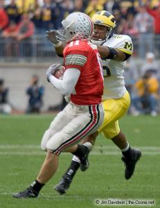 011 Anthony Gonzalez Ohio State Michigan 2004 The Game football