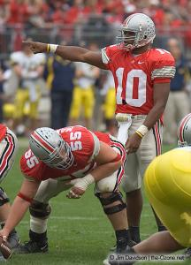 024 Nick Mangold Troy Smith Ohio State Michigan 2004 The Game football