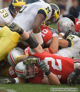 026 Mike Kne TJ Downing Troy Smith Ohio State Michigan 2004 The Game football