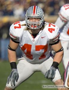 030 AJ Hawk Ohio State Michigan 2005 The Game football