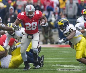 027 Chris Wells Ohio State Michigan 2008 The Game football