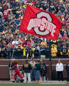 023 Brutus fans flag Ohio State Michigan 2009 football