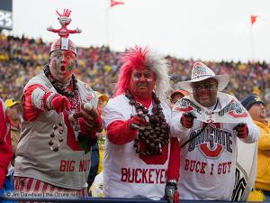 017 Fans Ohio State Michigan 2011 The Game football