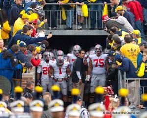 018 Luke Fickell Tunnel Ohio State Michigan 2011 The Game football