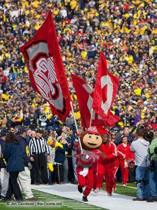 021 Brutus Cheerleaders Ohio State Michigan 2011 The Game football