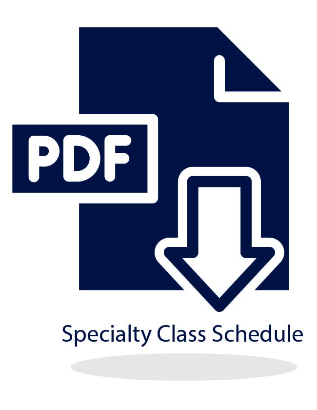 Specialty Class Schedule Download