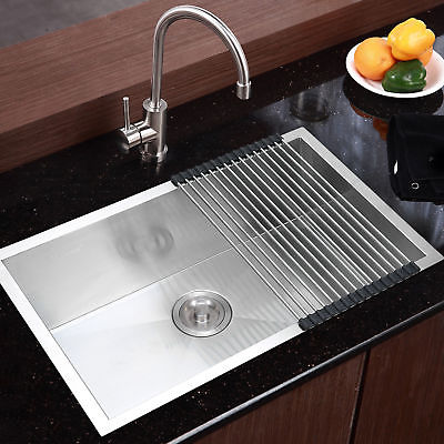 Commercial Stainless Steel Top Mount Kitchen Sink 28\