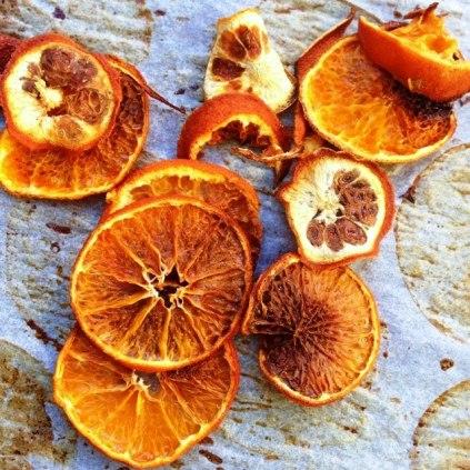 Oven Roasted Mandarin Peel