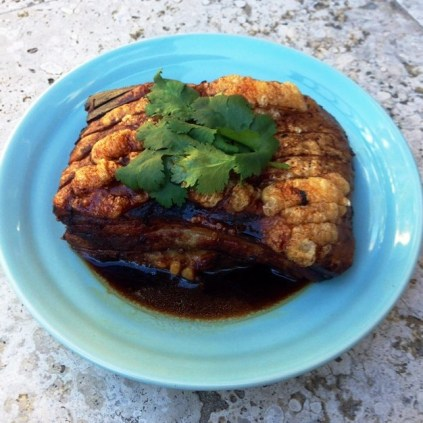 Sticky Soy And Honey Roasted Pork Belly With Crisp Crackle
