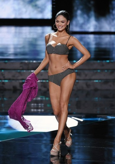 LAS VEGAS, NV - DECEMBER 20: Miss Philippines 2015, Pia Alonzo Wurtzbach, competes in the swimsuit competition during the 2015 Miss Universe Pageant at The Axis at Planet Hollywood Resort & Casino on December 20, 2015 in Las Vegas, Nevada. Wurtzbach went on to be crowned the new Miss Universe. (Photo by Ethan Miller/Getty Images)