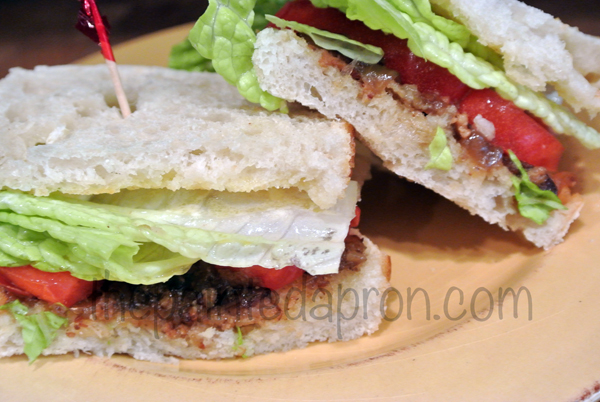 BLT with bacon jam, thepaintedapron.com