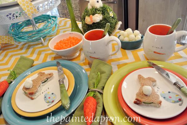 bunny sandwiches thepaintedapron.com