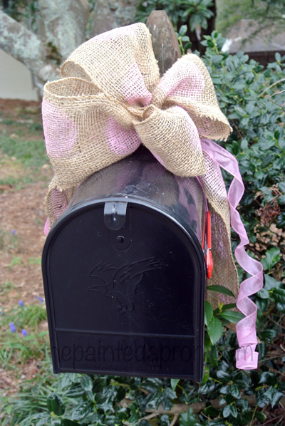 mailbox bow thepaintedapron.com