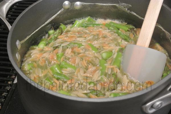 orzo & asparagus thepaintedapron.com
