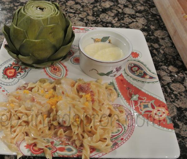 proscuitto & orange pasta thepaintedapron.com