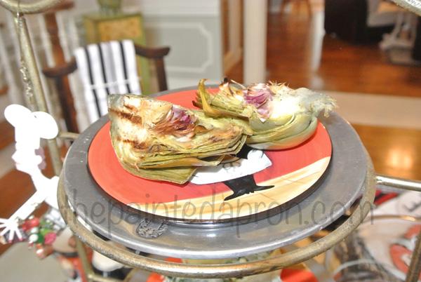 grilled artichokes thepaintedapron.com