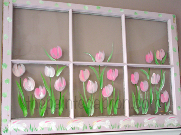 tulips and bunnies thepaintedapron.com